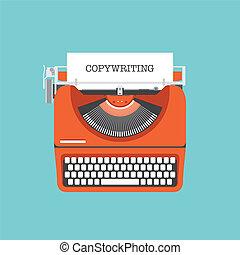 copywriting, wohnung, abbildung, begriff