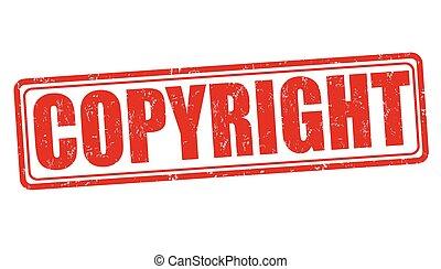 Copyyright grunge stamp - Copyyright grunge rubber stamp on...