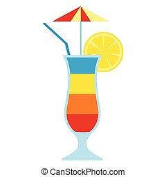 coquetel, bebida, suco fruta