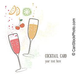 coquetel, cartão