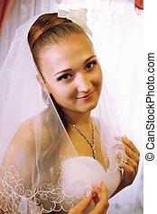 coquettish bride