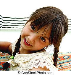 Coquettish girl