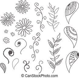 coquilles, coquilles, stars., sous-marin, été, illustration., mer, ensemble, icône, aquatic., vecteur, etoile mer, cadre, rond, composition, nature, concept