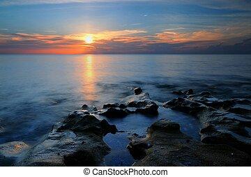 Coquina Rock Sunrise