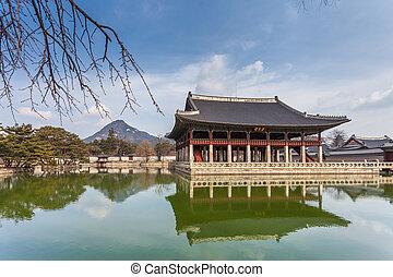 corée, séoul, palais, gyeongbokgung, sud
