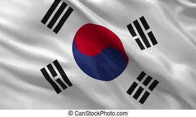 corée, -, seamless, drapeau, boucle, sud