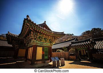 corée, songgwangsa, temples, sud