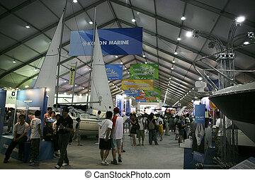 corée, yacht, exposition, jeongok, mondiale, sud