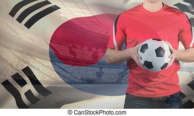 coréen, sud, vidéo, drapeau