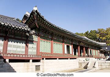 coréia, palácio, sul