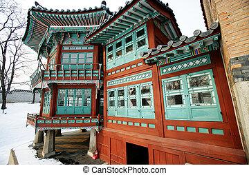 coréia, palácio, sul, gyeongbokgung