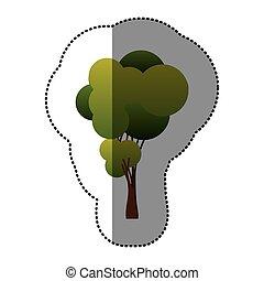cor, árvore, arte, ícone