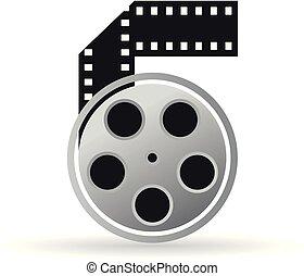 cor, ícone, -, carretel filme