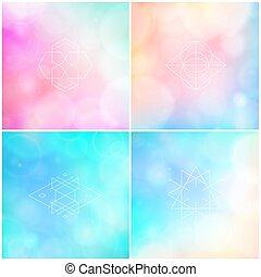 cor, abstratos, fundos, obscurecido