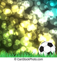 cor, abstratos, futebol, experiência verde, capim