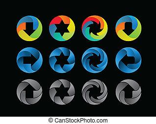 cor, abstratos, jogo, ícone