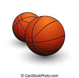 cor alaranjada, bola basquetebol, sinal