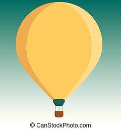 cor, aquilo, desenho, comprovante, penduradas, esquema, balloon, flutuante, três, quentes, modelo, sob, vazio, apartamento, negócio, cartaz, ilustração, amarrada, cartão, toned, saudação, ar, vetorial, convite, cesta, promoção