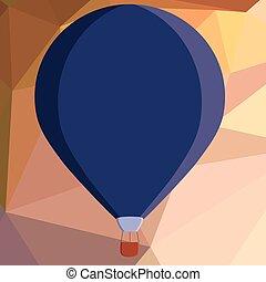 cor, aquilo, três, desenho, penduradas, esquema, esp, balloon, flutuante, isolado, quentes, modelo, sob, vazio, apartamento, negócio, toned, ilustração, amarrada, minimalista, gráfico, ar, vetorial, anunciando, cesta