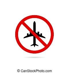 cor, avião, vermelho, ilustração, sinal