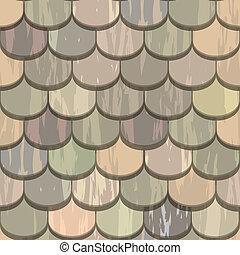 cor, azulejos, seamless, telhado