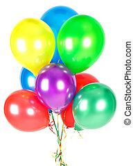 cor, balloons., decoração partido