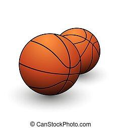 cor basquetebol, isolado, jogo, laranja, desporto