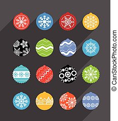 cor, baubles natal, collection., projete elementos