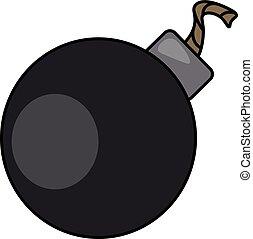 cor, bomba, bola, illustration., vetorial