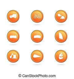 cor, botão, vetorial, ilustração, veículo