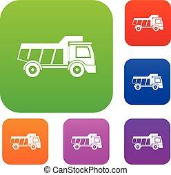 cor, brinquedo, jogo, caminhão, cobrança