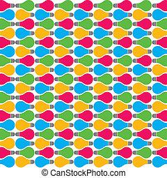 cor, bulbo, padrão