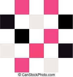 cor, chessboard, isolado, branco, fundo