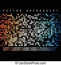 cor, coloridos, abstratos, vetorial, círculo, experiência.