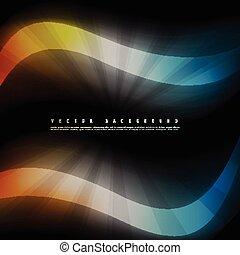cor, coloridos, abstratos, vetorial, experiência., onda