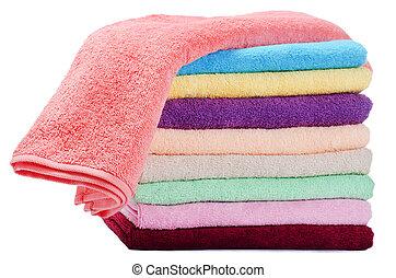 cor, combinado, toalhas