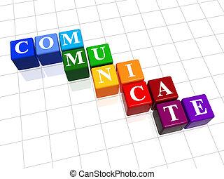 cor, comunicar
