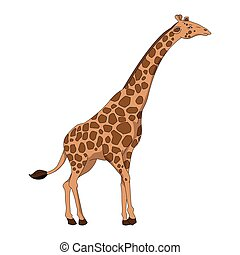 cor, cute, girafa, marrom