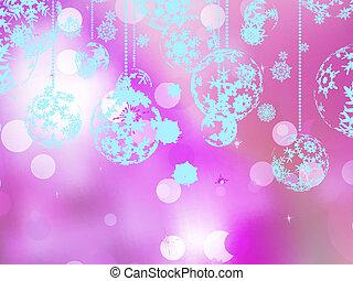 cor-de-rosa, 10, experiência., eps, elegante, natal