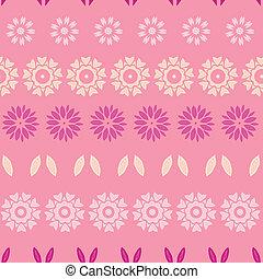 cor-de-rosa, abstratos, flores, listras, seamless, padrão, fundo