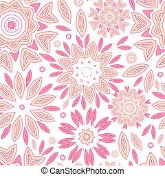 cor-de-rosa, abstratos, flores, seamless, padrão, fundo