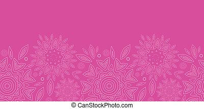 cor-de-rosa, abstratos, flores, textura, horizontais, seamless, padrão, fundo