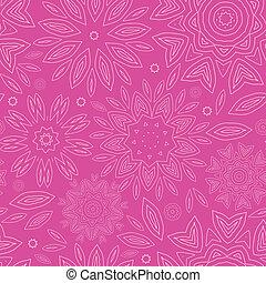 cor-de-rosa, abstratos, flores, textura, seamless, padrão, fundo