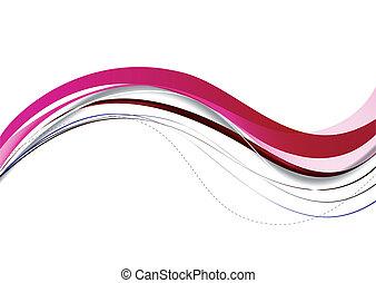 cor-de-rosa, abstratos, lines., vetorial