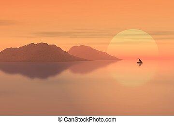 cor-de-rosa, alta sol