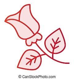 cor-de-rosa, apartamento, estilo, flor, 10., ícones, gradiente, rosa, eps, style., trendy, teia, floral, icon., app., desenho, projetado