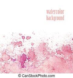 cor-de-rosa, aquarela, 10, eps, layout., splashes., vetorial, fundo