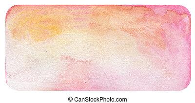 cor-de-rosa, aquarela, fundo