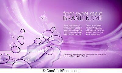 cor-de-rosa, aquoso, cartaz, textura, vetorial, ilustração,...