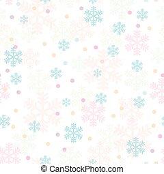 cor-de-rosa, azul, snowflakes, padrão, seamless, natal